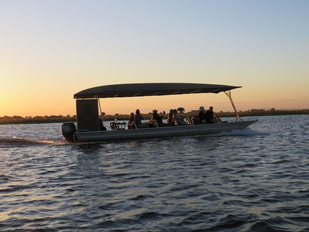 Plying the Chobe River