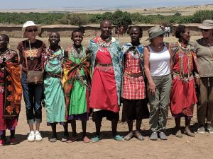 Women travel with a Purpose Safari visiting the Masai
