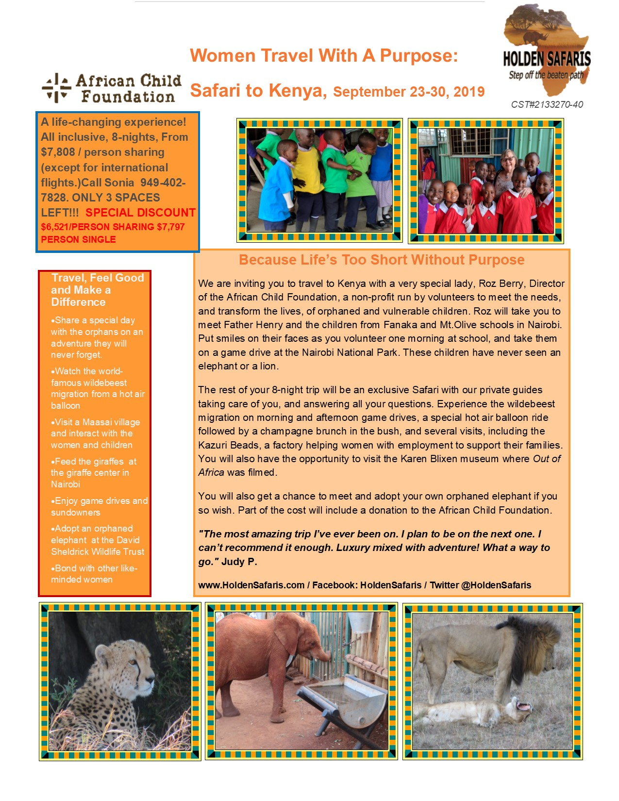 DISCOUNT 2019-Kenya-Sonia Women Travel with a Purpose flyer