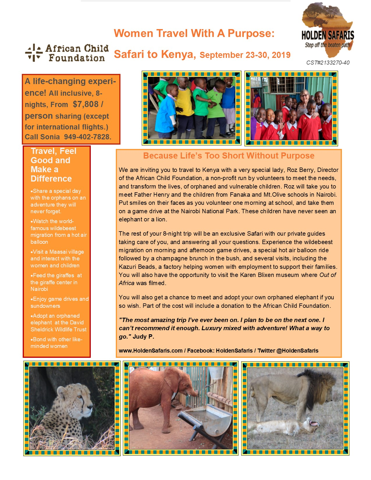 2019-Kenya-Sonia Women Travel with a Purpose flyer
