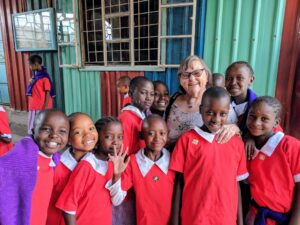 Women travel with a Purpose visiting Fanaka primary school in Nairobi
