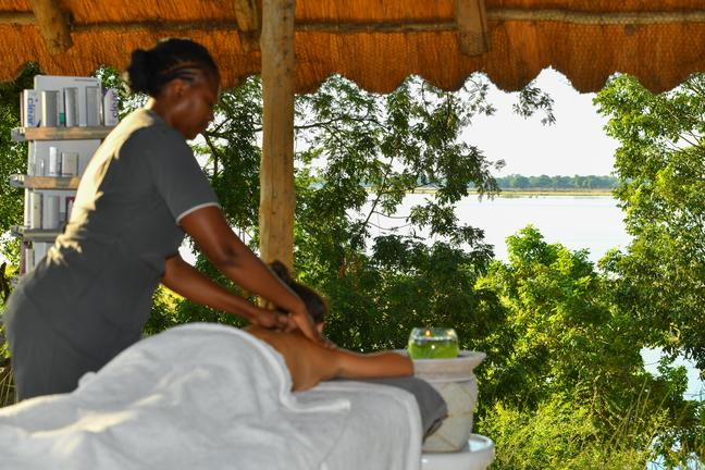 Spa Treatment overlooking the Zambezi