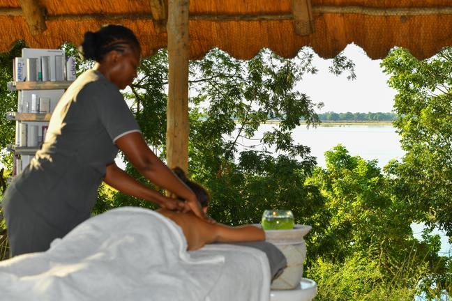 Spa Treatment overlooking the Zambezi